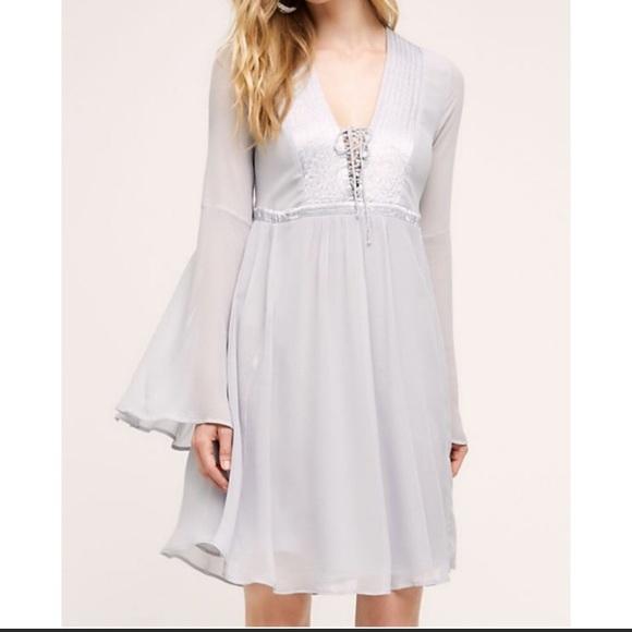 5ec06da521c5a Anthropologie Dresses   New Ghost London Blue Chiffon Dress   Poshmark